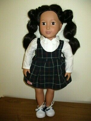 Pretty Our Generation Doll -  Black Hair - Original Outfit With Sneakers