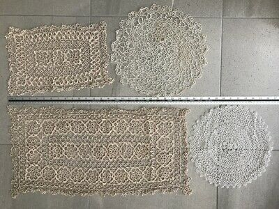 Vintage Hand made  Tatting Lace doilies doileys lot