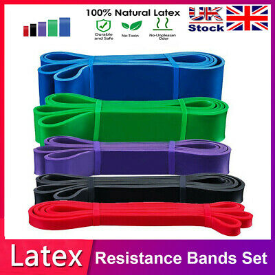 Resistance Bands 5 Power Lifting Exercise Band Fitness Pull Up Band Latex UK