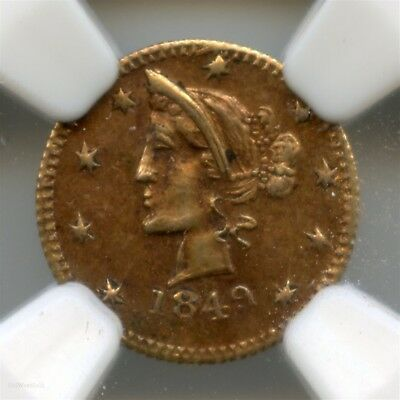 1849 Canada 1/2 British Columbia Gold G&L 100 / NGC MS63 HR7 Pop 2 PCGS & NGC #
