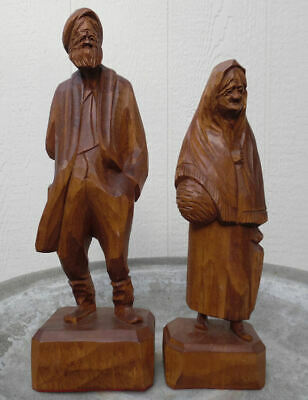 Mid Century Canadian Carved Wood Art Paul Emile Caron Quebec Canada Lot Of Two