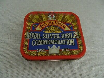 Vintage  Old  Holborn Royal  Silver Jubilee Commemoration 1977 TOBACCO TIN - EXC