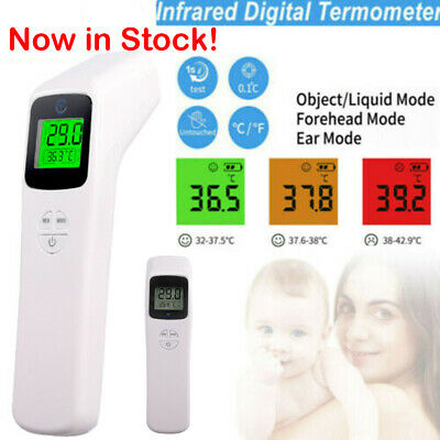 Digital Infrared Temporal Forehead Thermometer Gun Adult&Baby Body Temperature!