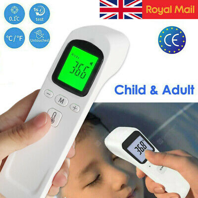 UK Baby Adult Head Forehead No-contact Touch IR Infrared Digital LCD Thermometer