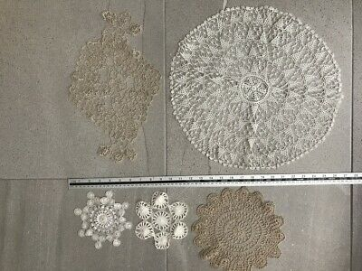 Vintage Hairpin Lace Tatting Doilies Doileys Mixed Lot AS IS
