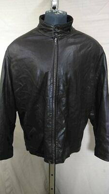 Brooks Brothers Leather Coat Brown Men's Size XXL