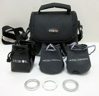 Digital Concepts & Zeikis High Definition Lens with Zeikos Bag - Lot of 3