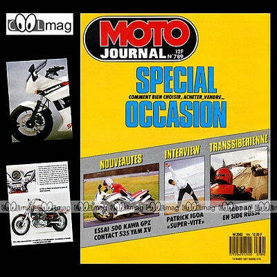Moto Journal N°789 Dniepr 16, Peugeot Country, Mbk Crossy, Patrick Igoa 1987