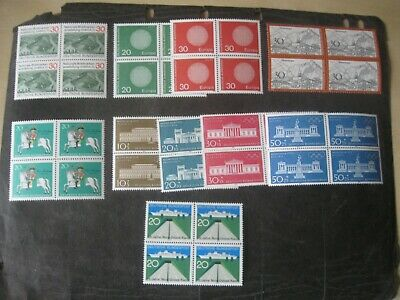 W.germany 1970 4 Singles+2Sets Mnh Blocksx4 Cat £30