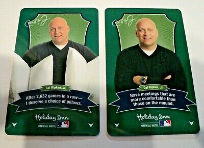 Cal Ripken Jr. Holiday Inn Hotel Actual Room Key Cards 2 Different ones Lot