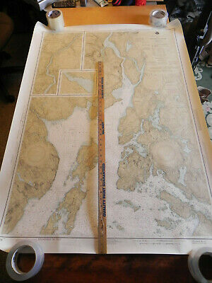 x5 LOT MAINE COAST  Nautical Chart Penobscot DEER ISLE Vinylhaven CASCO