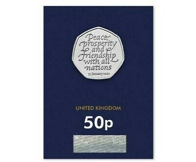 Certified - Brilliant - New 2020 Brexit 50P Coin - Change Checker -Uncirculated