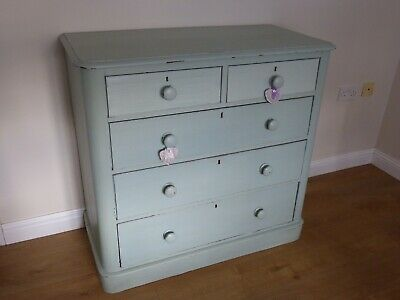Chest Of Drawers/Victorian/Painted Farrow And Ball