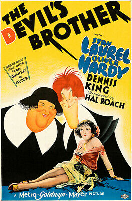 The devil/'s brother Laurel /& Hardy movie poster #2