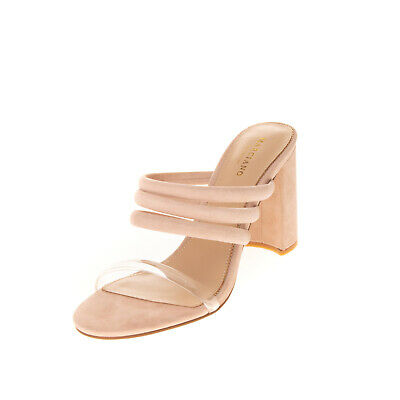 RRP €175 MARCIANO Leather Mule Sandals Size 38 UK 5 US 8.5 Padded Straps