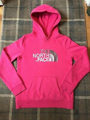 The North Face Pink Hoodie Sweatshirt Size Large Youth/Jr Hardly Worn