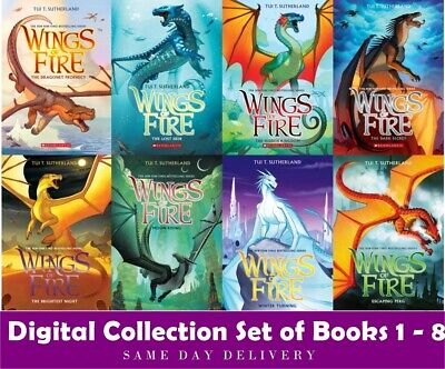 Tui T Sutherland WINGS OF FIRE Series 🔥Digital Collection Set of Books 1 - 8