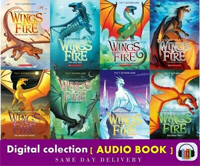 Tui T Sutherland WINGS OF FIRE Series 🔥Collection Set of Audio Books 1 - 8