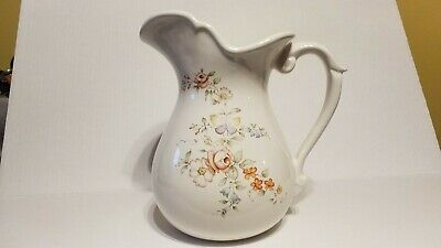 Large Floral Butterfly Ceramic Pitcher - Usa