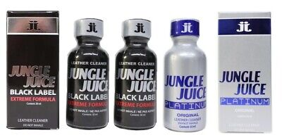 3 PACK of LEATHER CLEANER - JUNGLE JUICE 30ml (2 x Black Label + 1 x Platinum)