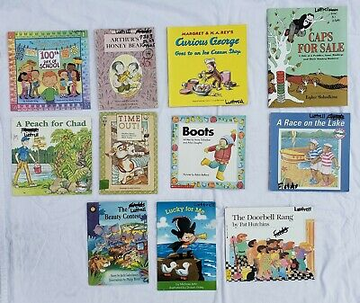 Lot 10 Childrens Kids Books Animals Monkey Clothing Hat Boots Beginning Readers