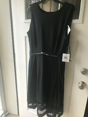 Calvin Klein Plus Size Fit and Flare Black Dress