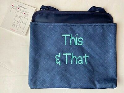 Thirty One Oh Snap Pocket 067F Navy Cross Pop Navy Blue Teal New