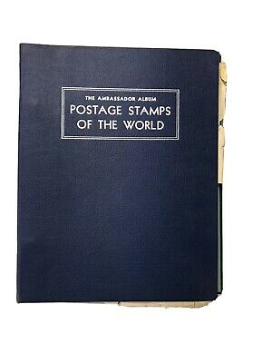 The New Ambassador Album For Postage Stamps of The World - Includes World Stamps