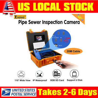 Eyoyo 1MP 7inch Video 20M Drain Sewer Industrial Endoscope Camera Remote Monitor