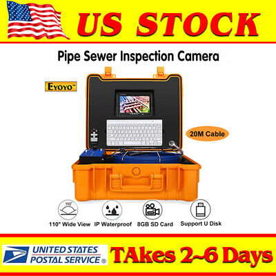 Eyoyo LCD 7inch Video 20M Drain Sewer Industrial Endoscope Camera Remote Monitor