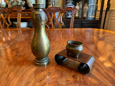Two Chinese Qing Dynasty Bronze Items.
