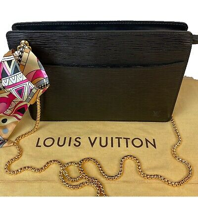 Certified Auth. Louis Vuitton Black Epi Leather Cross Body ~Us Seller