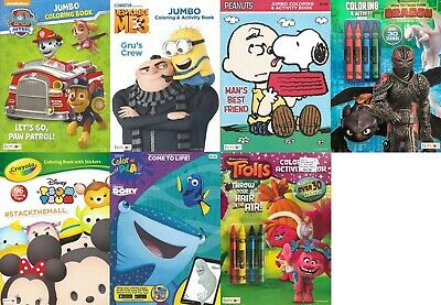 Lot of 7 Coloring Books - Everyday Disney Mickey & More Children Boy Girl Kids