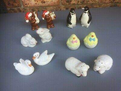 Vintage Retro SALT & PEPPER SHAKERS Animal Collection 6 Pairs