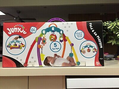 Playgro Junyju Fold And Go Playgym - Comes With 5 Toys