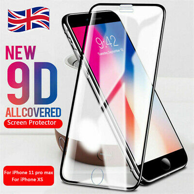 9D Full Curved Tempered Glass Screen Protector For i Phone 11 Pro Max XS