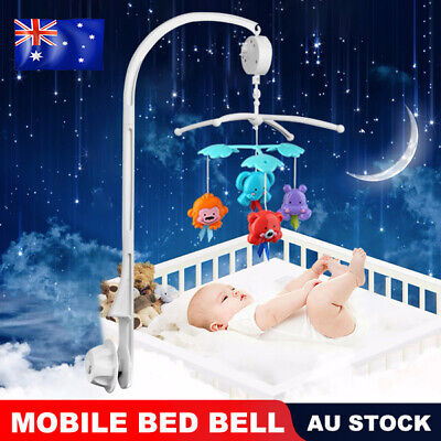 Kids Baby Mobile Crib Cot Musical DIY Bed Toy Holder Arm + Wind-up Music Box