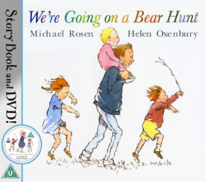 We're Going on a Bear Hunt (Book & DVD), Michael Rosen, Used; Good Book
