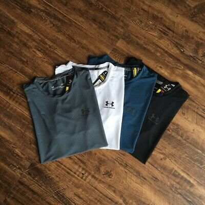 Under Armour Tshirt Short Sleeve Colors Black White Gray And Blue