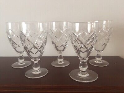 Stuart Crystal Wine Glass set (5 glasses) - about 60+ years old