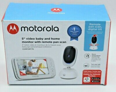Motorola 5-Inch Video Baby Monitor with Remote Pan Scan A3