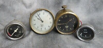 A Selection Of Car Cock Pit Gauges And Smiths Vintage Car Dashboard Clocks