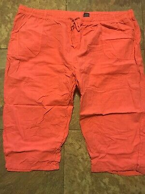Basic Editions Women's Plus Size 3X Coral Pull on Capri