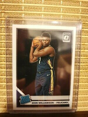 2019-20 Donruss Optic Zion Williamson Rated Rookie Base RC Pelicans #158