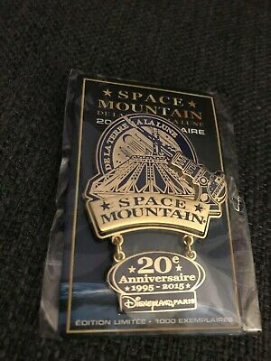PIN Space Mountain 20th anniversary anniversaire Disneyland Paris LE 1000 DLP