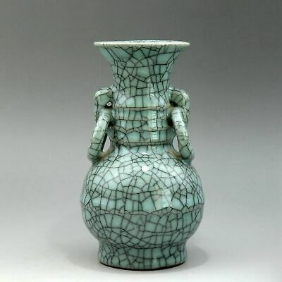 Collectable China Old Porcelain Glaze Hand-Carved Delicate Unique Valuable Vase