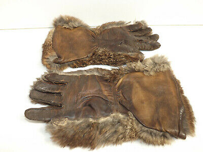 Late Victorian Early Edwardian Fur & Leather Girls/Ladies Gauntlets Small Size