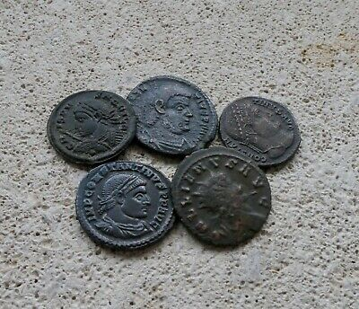 5 Roman coins Good grade Low start with no reserve