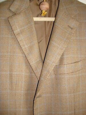 Kiton 100% Cashmere Plaid Sport Coat Made In Italy