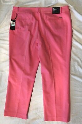 NEW WOMENS TOMMY HILFIGER BRISTOL SLIM ANKLE  STRETCH PANTS  PINK SIze 16